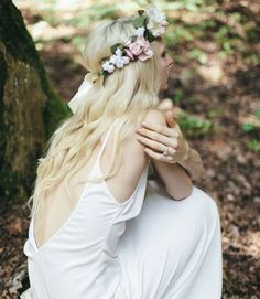 Low-backed wedding dress from Wild Rose By & For Love