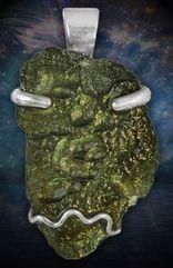 Handcrafted Healing Moldavite Pendant