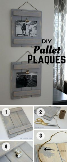 Ted's Woodworking Plans - c An easy tutorial for DIY Pallet Plaques from pallet wood Industry Standard Design Get A Lifetime Of Project Ideas & Inspiration! Step By Step Woodworking Plans Pallet Crafts, Diy Pallet Projects, Wood Crafts, Craft Projects, Project Ideas, Diy Crafts, Wood Projects That Sell, Rustic Crafts, Arte Pallet