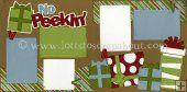 No Peekin' Scrapbook Page Kit