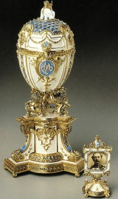Danish Jubilee Egg  Date	1903  Presented by Tsar Nikolai II to his Mother Dowager Empress Maria Fyodorovna