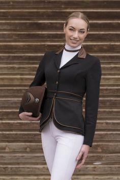 """Giacca equitazione concorso donna Equi-thème """"Reptile"""" per monta inglese con vestibilità aderente."""
