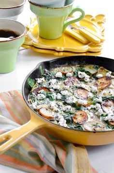 Start on the stovetop, finish in the oven—this frittata is simple and delicious. A light mix of egg whites and egg, tender spinach and chunky potatoes makes this dish a hearty vegetarian meal for breakfast, brunch or dinner. Be sure your nonstick skillet is oven-safe. A well-seasoned cast-iron pan is perfect. Photo Credit: Julia Rutland