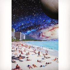 Summer Friday - collage by Turck Collage