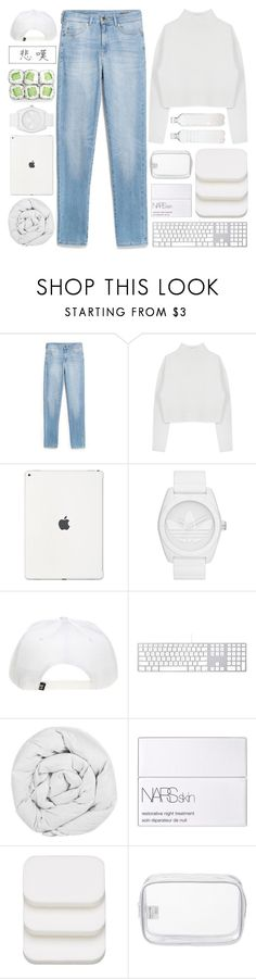 """""""⧼ leave the lights on ⧽"""" by double-identity ❤ liked on Polyvore featuring MANGO, Dion Lee, adidas Originals, The Fine Bedding Company, NARS Cosmetics, COVERGIRL, John Lewis, Seletti and country"""