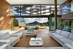The house was designed to be integrated seamlessly with the landscape surrounding it. The Spa House is a luxurious private villa in Cape Town, South Africa, CIA Award for Architecture and named Winner of Best Design Best Interior Design, Interior And Exterior, Stylish Interior, Architecture Design, Organic Architecture, Contemporary Architecture, Indoor Outdoor Living, Outdoor Areas, Outdoor Pool