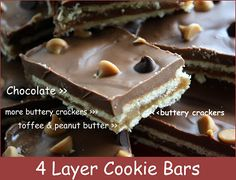 Mommy's Kitchen - Decadent 4 Layer Cookie Bars.