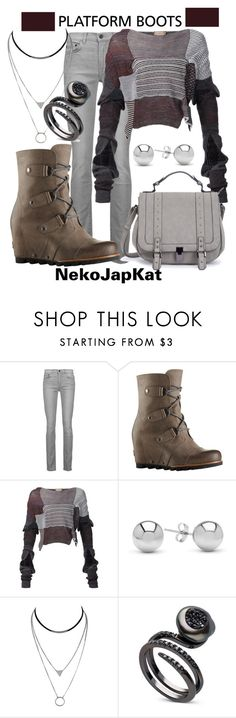 """""""platform boots3"""" by neko-m-tucker-smith ❤ liked on Polyvore featuring Proenza Schouler, SOREL, Vivienne Westwood and Jewelonfire"""