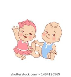Designer Baby, Baby Motiv, Teddy Pictures, Baby Shower Deco, Cute Little Baby Girl, Baby Icon, Baby Drawing, Baby Cartoon Drawing, Baby Illustration