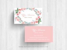 250 or 500 Custom Floral Business Card Calling by PapierSanctum