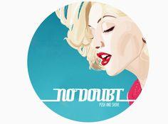 Logo design for rock band No Doubt by #FIDM Graphic Design Alumnus Eddie Perez