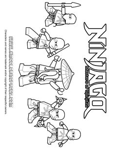 Ninjago Ninja Team Coloring Page | H & M Coloring Pages