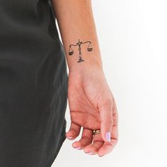 Libra temporary tattoo tattly.com