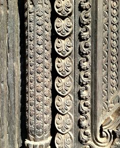 Wood carving in Nepal