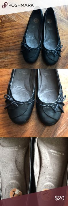 Rockport by Adidas Black Round Toe Dress Flats 7.5
