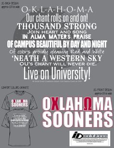 Oklahoma Chi Omega sooner game day t-shirt #chio #tshirt #greek #sorority #boomersooner #football #fall #chant