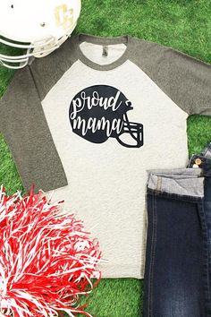 Let everyone know that you're a Proud Mama with this sporty raglan! You can even add your player's number on the back!
