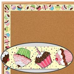 Susan Winget Cupcake Straight Border Trim - Great for Birthday Boards!