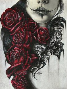 Skulls and flowers -