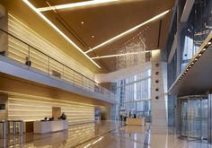 Welcoming Futuristic Lobby Interior Design of International Commerce Centre Tower In Hongkong
