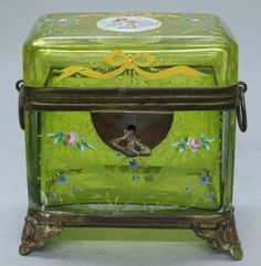 MOSER GILT AND ENAMELLED BOX