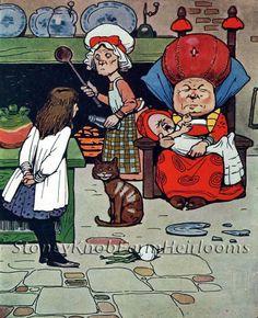 Alice in Wonderland (1) ~ Vintage Childrens Books ~ Counted Cross Stitch Pattern #StoneyKnobFarmHeirlooms #CountedCrossStitch