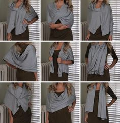 I have a super easy DIY project to sharethat any gal would LOVE! This is a scarf made out of jersey knit fabric with metal snaps so you ca...