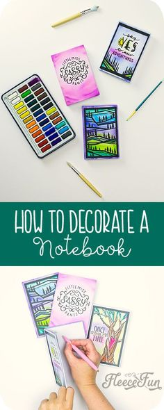 How to Decorate a Notebook with Cricut and EasyPress 2 - DIY Gifts Wedding Ideen Diy Craft Projects, Craft Tutorials, Sewing Projects, Craft Ideas, Creative Crafts, Easy Crafts, Diy Gifts, Handmade Gifts, Classroom Crafts