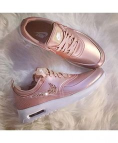 Nike Air Max Thea Womens Rose Gold Trainers with Swarovski