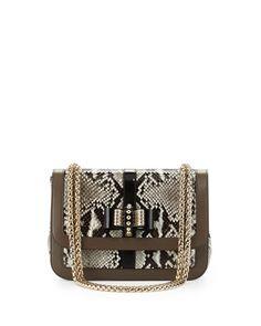 Christian Louboutin - Sweet Charity Python Shoulder Bag