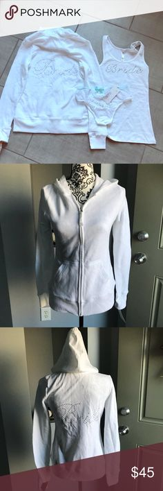 Bride Hoodie Sz S and Tank Sz XS Brand new all with tags bright white hoodie, tank, and panties. Hoodie and undies are size S and tank is XS. Perfect for a bride to be. All purchased from Target. Other