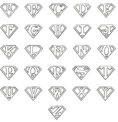 7 Best Images of Printable Superman Logo Alphabet - Superman Letters Free Printables, Superman Logo with Different Letters and Printable Superman Logo Letter Superman Logo, Superman Symbol, Superman Cakes, Letter T, Letter Logo, Silhouette Projects, Letters And Numbers, String Art, Coloring Pages