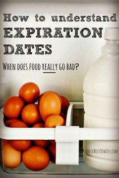Have you ever thrown out food just because a date on the package told you to? Did you know the food manufacturer came up with that date and it has nothing to do with food safety? Find out how long food is REALLY good for and stop tossing your money. Food Safety Tips, Food Tips, Food Ideas, Expiration Dates On Food, Expired Food, Food Plot, Wellness Programs, Eating Organic, Food Facts