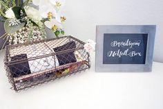 Für den Tag der Hochzeit ist eine Survival/Notfall-Box für den Bräutigam eine tolle Überraschung. Wir zeigen euch was dort alles hinein könnte.