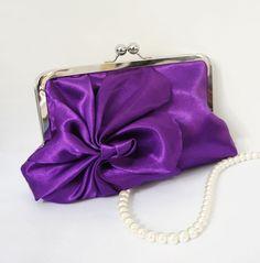 Royal Purple Deco Clutch Purse