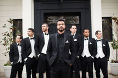 Trendy Ideas For Wedding Suits Men Black Groom Attire Bow Ties Wedding Fotos, Wedding Ideias, Wedding Groom, Wedding Attire, Wedding Tuxedos, Wedding Bow Ties, Men Wedding Suits, Gold Wedding, Wedding Outfits