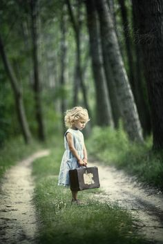 This reminds me of my granddaughter Ashley when she was four and packed her little backpack to come live with me.