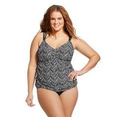 Women's Plus Size Cross Back Tankini - Ava & Viv™. Image 1 of 2.