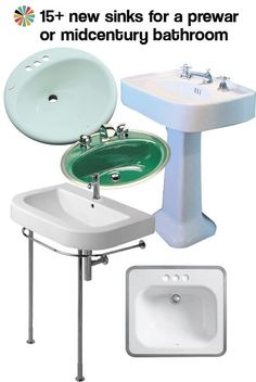 our 15 favorite new sinks for a midcentury or prewar bathroom