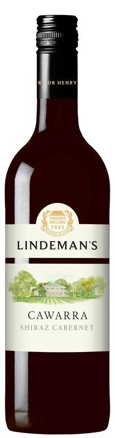 Lindeman's Cawarra Shiraz - Cabernet from Australia. A medium bodied red wine with dark berry flavours. Wine And Spirits, Wines, Red Wine, Berries, Australia, Bottle, Dark, Medium, Bays