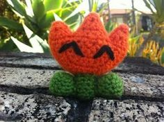 Let's all get Knitfaced!: Super Mario World Fire Flower