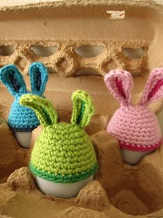 easter egg bunny toppers. or egg warmers for brits.