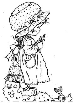 printable sarah kay coloring pages Holly Hobbie, Cool Coloring Pages, Printable Coloring Pages, Coloring Books, Sarah Kay Imagenes, Vintage Embroidery, Embroidery Patterns, Free Adult Coloring, Digi Stamps