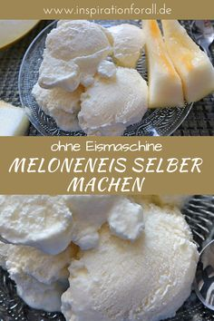 Making melon ice yourself - simple recipe for creamy, fruity ice cream - - Easy Snacks, Easy Meals, Eggplant Dishes, Nice Cream, Cream Cream, Walnut Salad, Summer Dishes, Nutritious Meals, Dessert Table