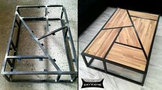 Beautiful Coffee table … – metal of life Furniture Projects, Wood Projects, Diy Furniture, Woodworking Projects, Furniture Design, Woodworking Wood, Mirrored Furniture, Furniture Logo, Living Furniture