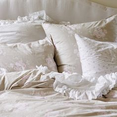 Bella Beige and Pearl bedding collections www.shabbychic.com