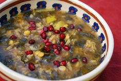 ***PRELOAD SOUP*** Persian Pomegranate Soup (Ash-e Anar) . Vegetarian   Cooking Hints   Nutrition Facts Amount Per Serving Calories 210 Calories from Fat 50 % Daily Value * Total Fat 5g 8% Saturated Fat 1g 5% Trans Fat Cholesterol 0mg 0% Sodium 1200mg 50% Potassium 1080mg 31% Total Carbohydrate 39g 13% Dietary Fiber 14g 56% Sugars 19g Protein 5g Vitamin A 15% Vitamin C 20% Calcium 8% Iron 6% >> SLOtility.com