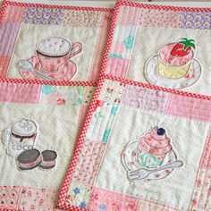 Four sets of place mats | Minki's Work Table