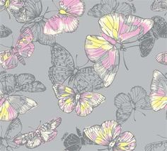 Butterfly repeat fashion pattern print for Mossimo women's underwear