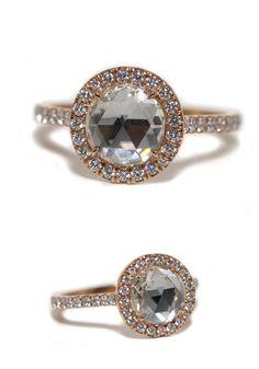 1.37ct Rose Cut Round Diamond Ring   Oster Jewelers #MyBridalStyle #MyDiamondStyle